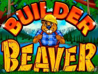 Builder Beaver Online Slot Machine Game Logo